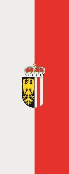 Flagge Oberrösterreich im Hochformat
