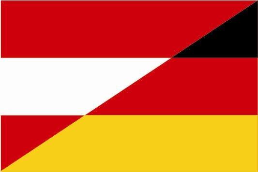 Aufkleber Österreich-Deutschland