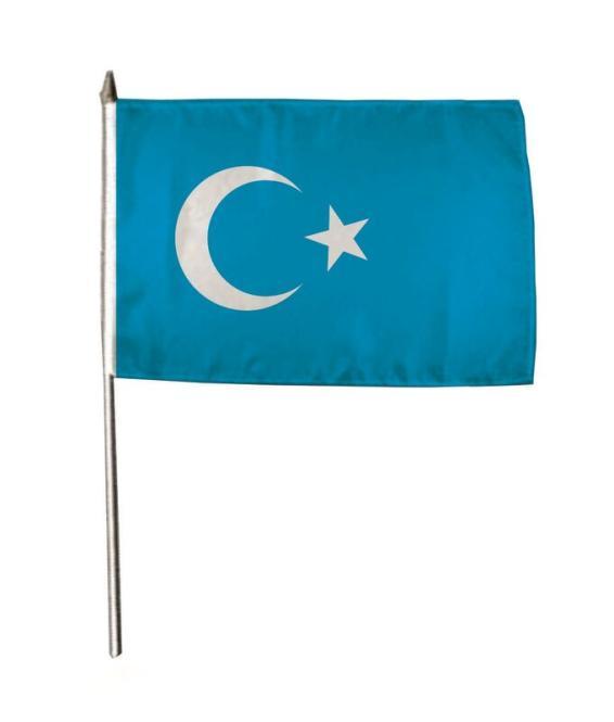 Stockflagge Ostturkistan 30 x 45 cm