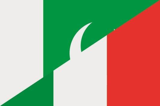 Aufkleber Pakistan-Italien