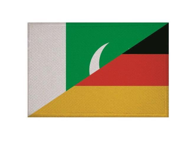 Aufnäher Patch Pakistan - Deutschland 9 x 6 cm