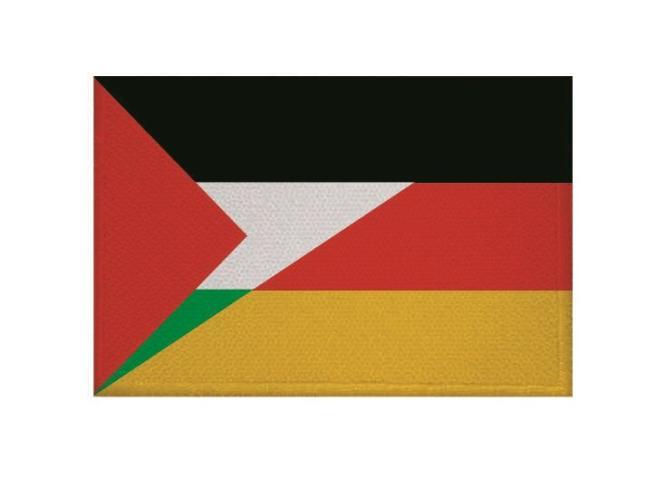 Aufnäher Patch Palästina - Deutschland 9 x 6 cm