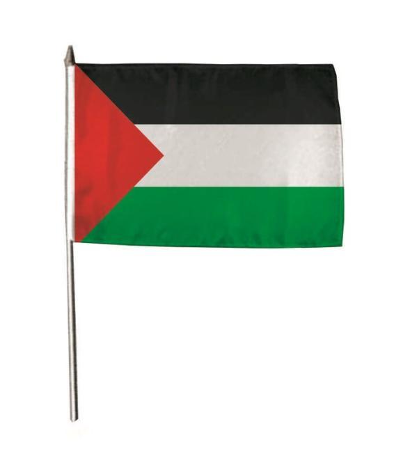 Stockflagge Palästina 30 x 45 cm