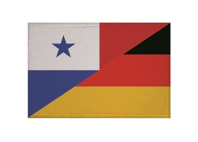 Aufnäher Patch Panama - Deutschland 9 x 6 cm