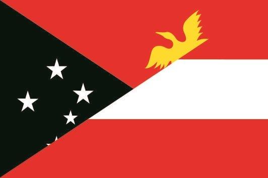 Aufkleber Papa Neuguinea-Österreich