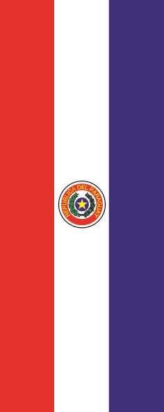 Flagge Paraguay im Hochformat