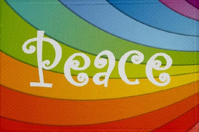 Aufnäher Peace Motiv Nr. 2 Patch 9 x 6 cm