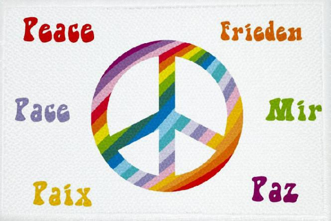 Aufnäher Peace Motiv Nr. 5 Patch 9 x 6 cm