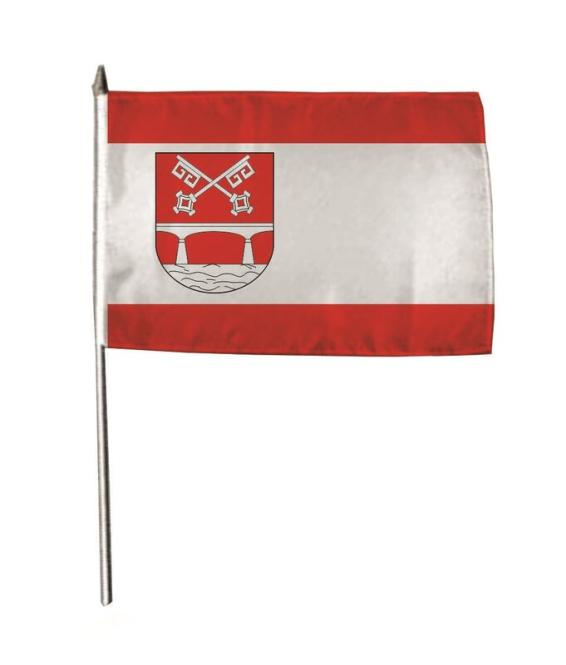 Stockflagge Petershagen 30 x 45 cm