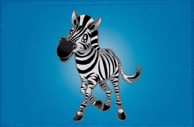 Aufnäher Pferd Motiv Nr. 10 Zebra Patch 9 x 6 cm
