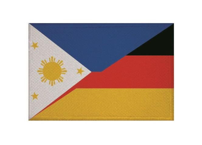 Aufnäher Patch Philippinen - Deutschland 9 x 6 cm