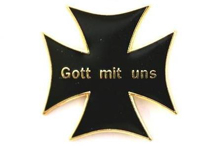 Pin Kreuz Gott mit uns