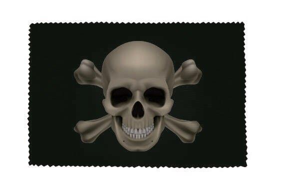 Glasreinigungstuch Pirat Totenkopf