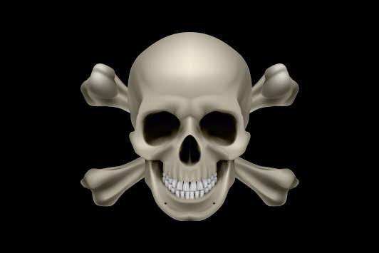 Aufkleber Pirat Totenkopf