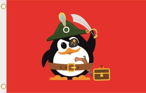 Fahne Piraten Pinguin 90 x 150 cm