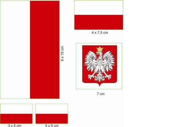 Aufkleberbogen Polen