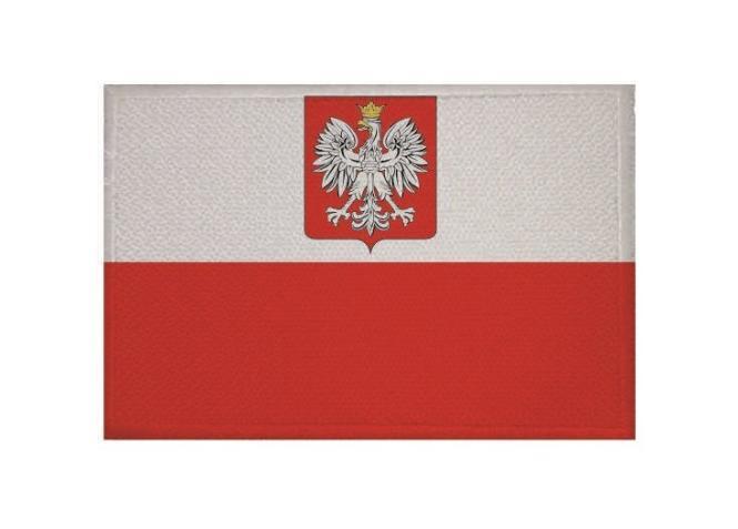 Aufnäher Patch Polen mit Wappen 9 x 6 cm
