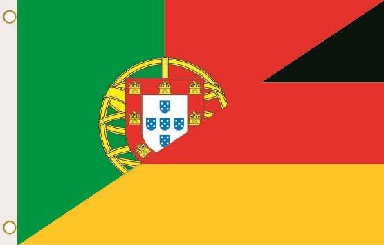 Fahne Portugal-Deutschland 90 x 150 cm