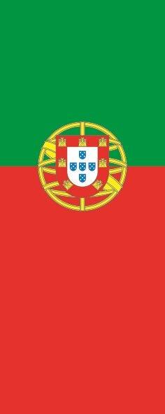 Flagge Portugal im Hochformat