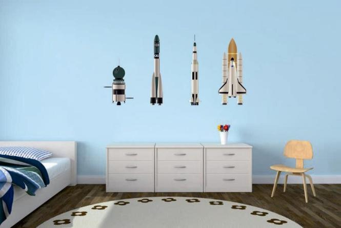 Wandtattoo Raketen-Set 1