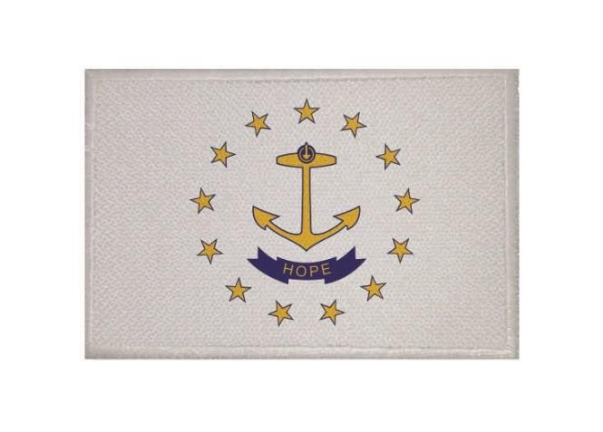 Aufnäher Patch Rhode - Island 9 x 6 cm