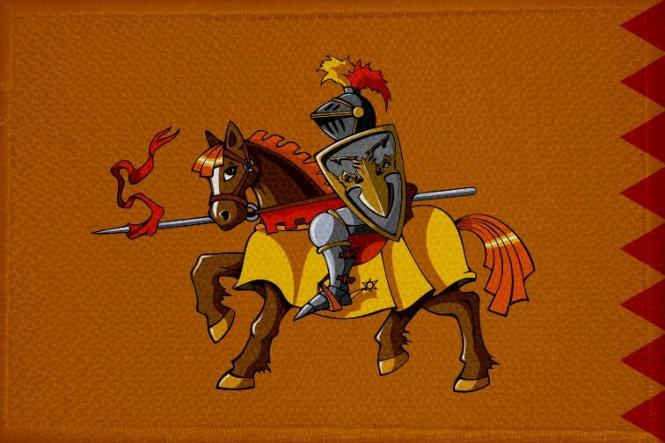 Aufnäher Patch Ritter Motiv Nr. 23  9 x 6 cm