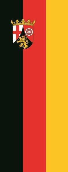 Flagge Rheinland - Pfalz im Hochformat