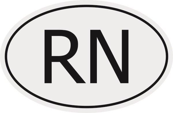 Aufkleber Autokennzeichen RN = Niger