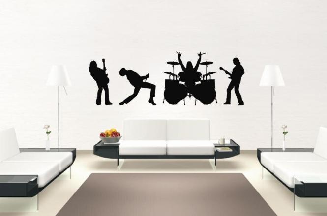 Wandtattoo Rock Band