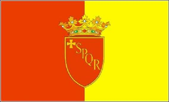 Flagge Rom mit Wappen