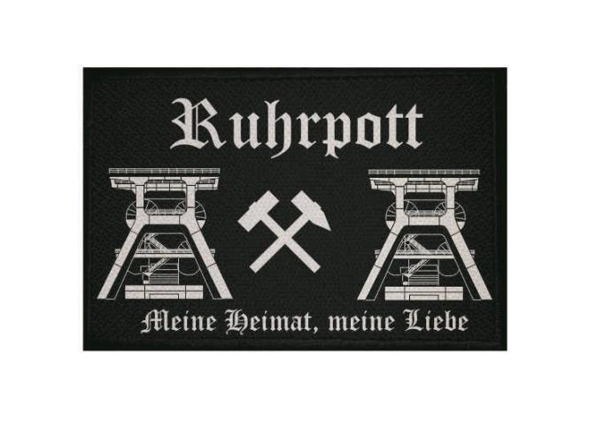 Aufnäher Patch Ruhrpott 9 x 6 cm