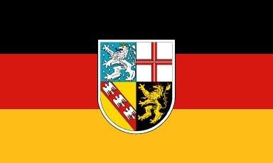 Fahne Saarland 90 x 150 cm