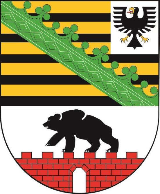 Aufkleber Sachsen Anhalt Wappen