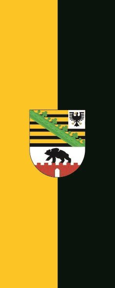 Flagge Sachsen - Anhalt im Hochformat