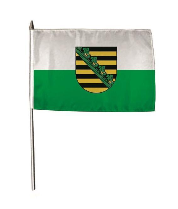Stockflagge Sachsen 30 x 45 cm