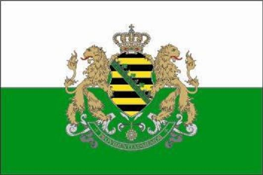 Fahne Königreich Sachsen 60 x 90 cm