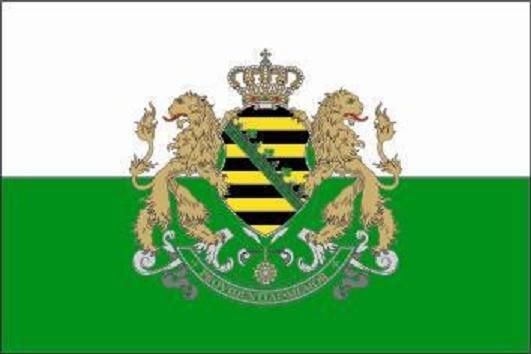 Aufkleber Königreich Sachsen 8 x 5 cm