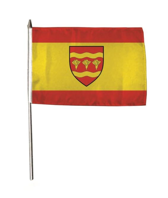 Stockflagge Saerbeck 30 x 45 cm