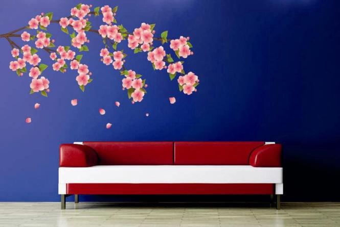 Wandtattoo Sakura Kirschblütenzweig