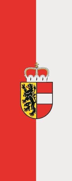 Flagge Salzburg im Hochformat