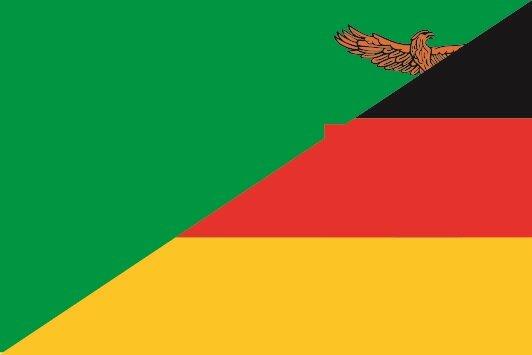 Flagge Sambia - Deutschland