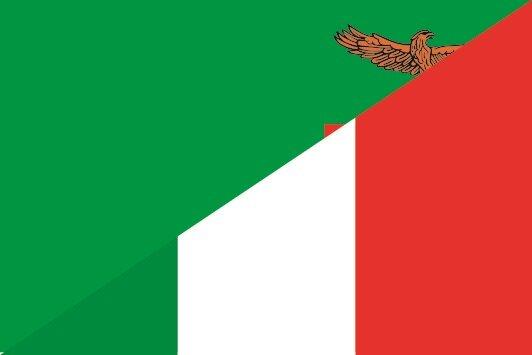 Aufkleber Sambia-Italien