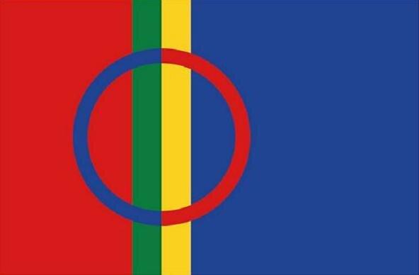 Flagge Sami Lappland Samen