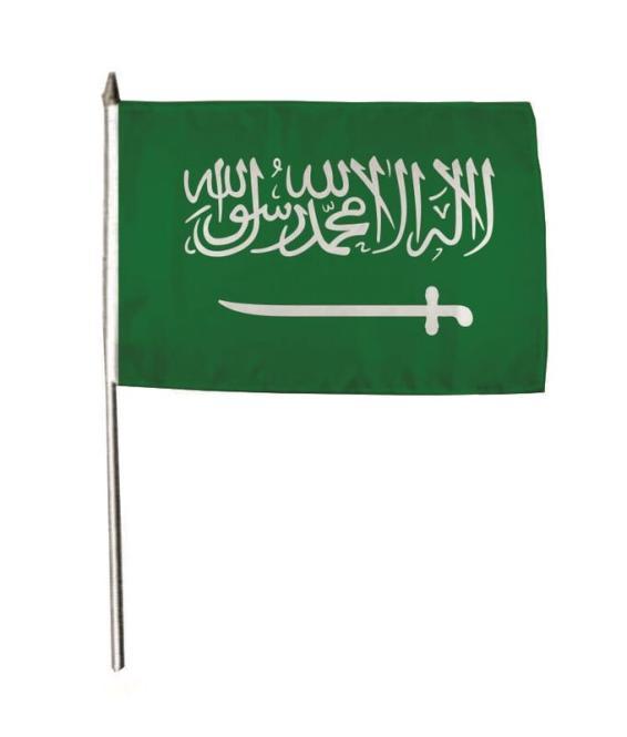 Stockflagge Saudi Arabien 30 x 45 cm