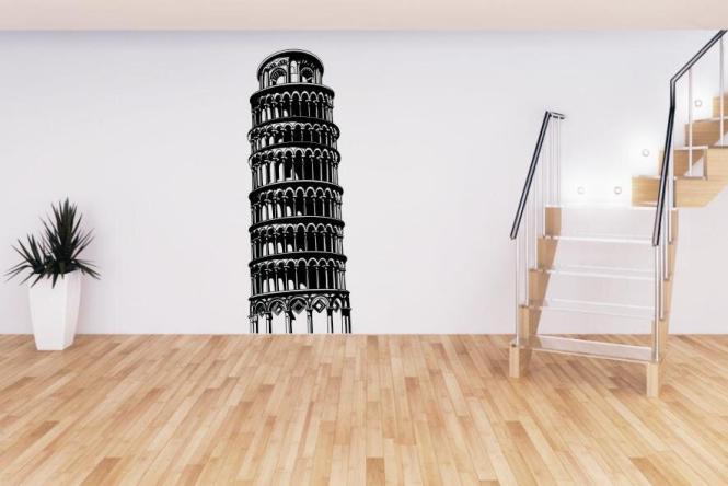 Wandtattoo Schiefer Turm von Pisa