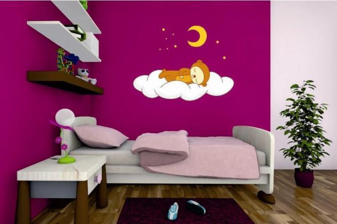 wandtattoo schlafender b r. Black Bedroom Furniture Sets. Home Design Ideas