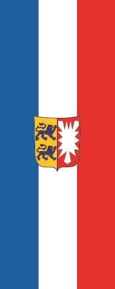 Flagge Schleswig - Holstein im Hochformat