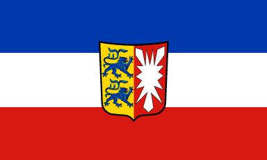 Flagge Schleswig-Holstein mit Wappen 150 x 250 cm