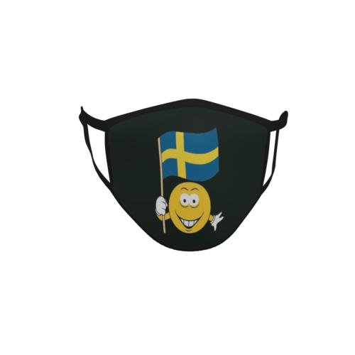 Gesichtsmaske Behelfsmaske Mundschutz schwarz Schweden Smily