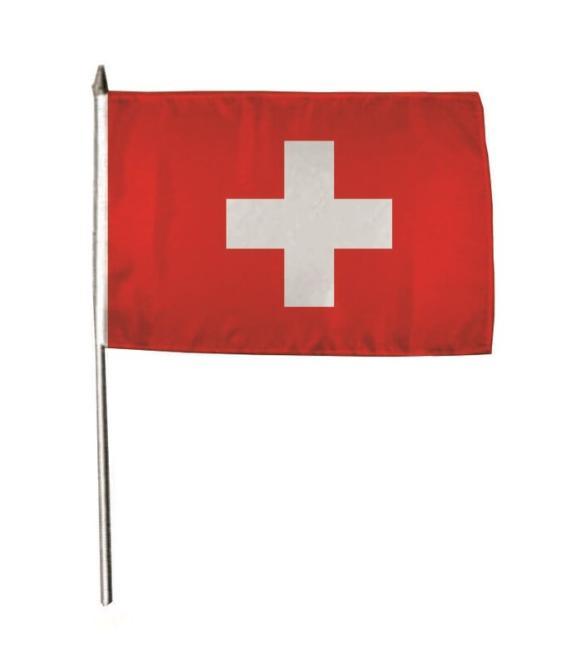 Stockflagge Schweiz 30 x 45 cm